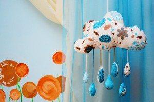 norisorul cu ploaie handmade material albastru 2