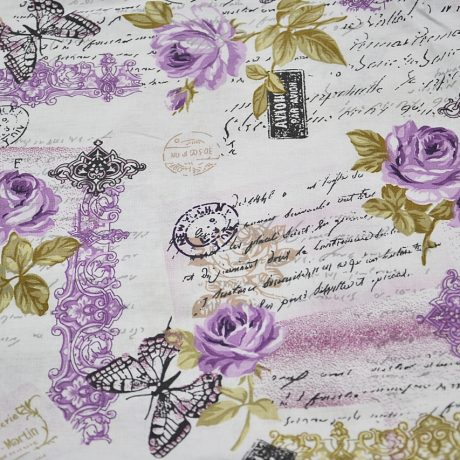 Scrisori, fluturi si flori pe mov