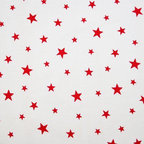 Stele rosii pe alb