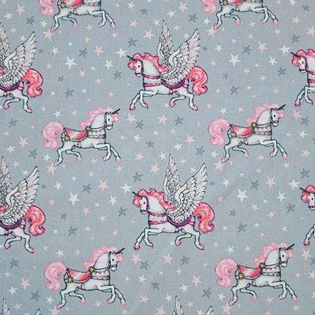 Unicorni roz pe gri